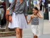 Suri Cruise strikes a pose for the camera as she takes a stroll in NYC in matching outfits with mom Katie Holmes<P>Pictured: Katie Holmes and Suri Cruise<B>Ref: SPL409857  240612  </B><BR/>Picture by: Jackson Lee / Splash News<BR/></P><P><B>Splash News and Pictures</B><BR/>Los Angeles:	310-821-2666<BR/>New York:	212-619-2666<BR/>London:	870-934-2666<BR/>photodesk@splashnews.com<BR/></P>